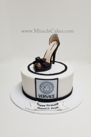Birthday cake with a Versace high heel