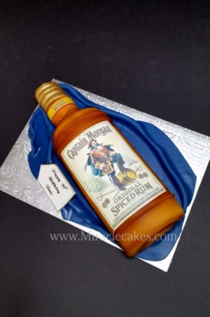 Captain Morgan bottle cake 2