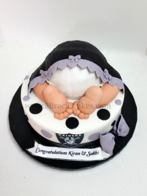 Raiders baby bum cake