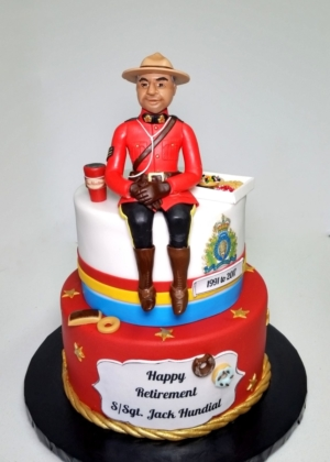 Mountie Retirement cake