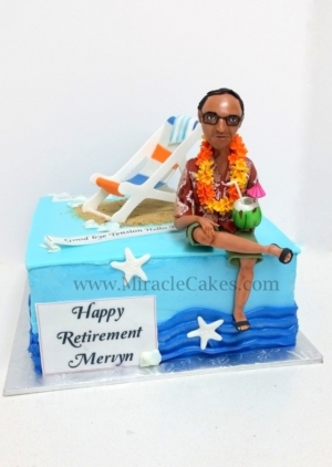 Aloha Retirement cake