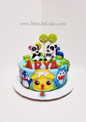 Baby Bus theme cake