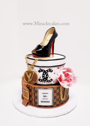 Christian Louboutin, Chanel and LV designer cake