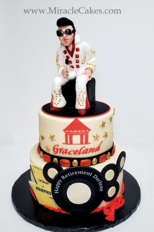 Elvis Presley cake for a retirement