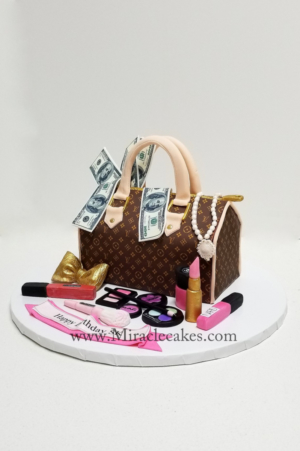 LV speedy purse cake .