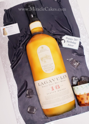 Lagavulin Scotch Whisky bottel Cake