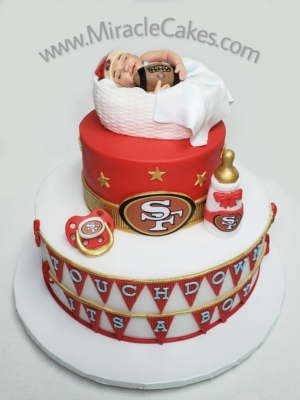 San Francisco 49ers baby shower cake