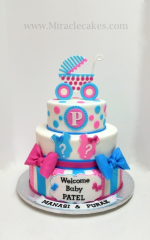 Pink and blue baby shower
