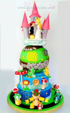 Super Mario Brothers wedding cake
