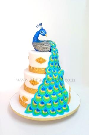 Peacock cake-2