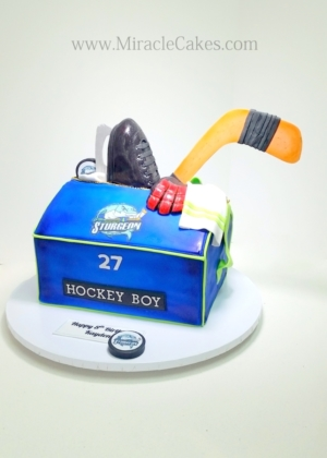 Hockey bag cake