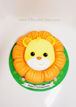 Baby Lion head cake