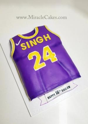 LA Lakers jersey cake