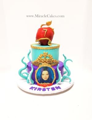 """""""Descendants"""" themed cake"""