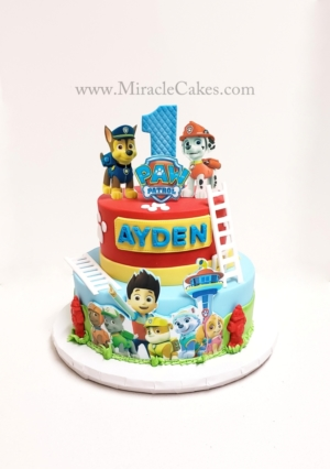 Paw Patrol cake for a first birthday