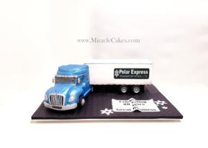 3D semi truck cake