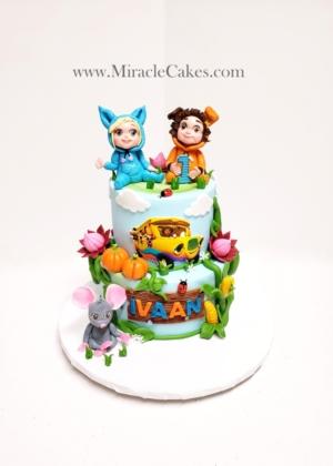 Dave & Ava themed cake