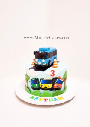 """""""Tayo"""" the little bus cake"""