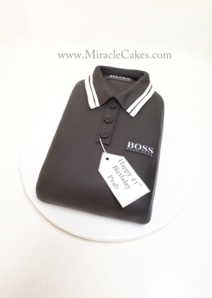 Hugo Boss polo shirt cake