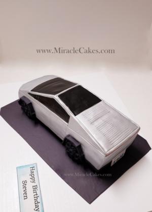 Tesla cyber truck cake