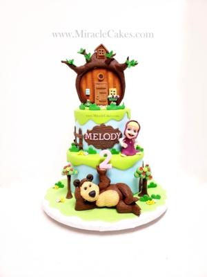 Masha and the bear cake -2