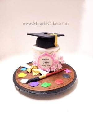 Graduation cake for a art student