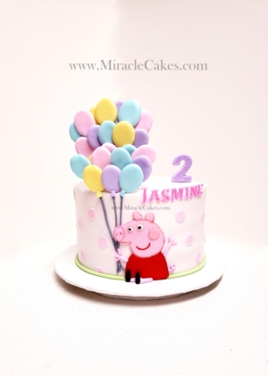 Peppa pig with Balloons