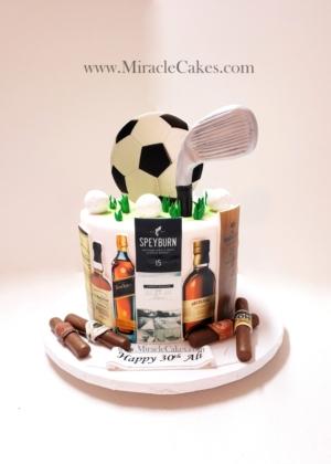 Scotch and Cigars cake