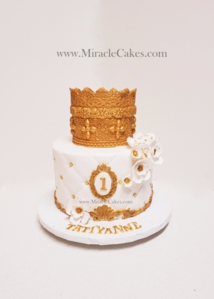 Princess cake with a crown topper