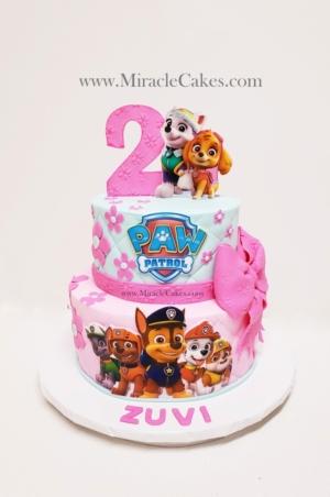 Paw Patrol cake pink