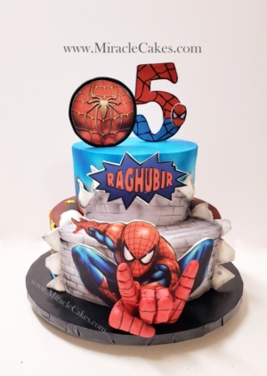 Spiderman cake -2