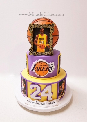 Lakers theme cake