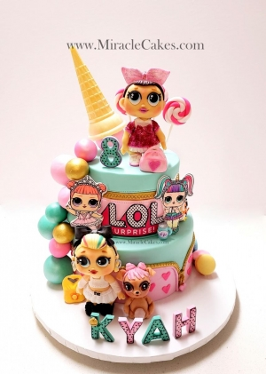 LOL dolls inspired cake