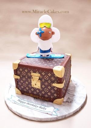 LV music box cake