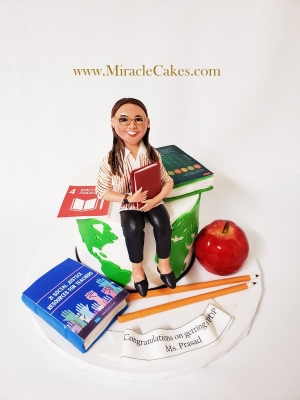 Personalized cake for a teacher