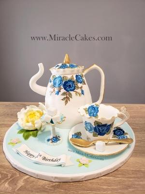 3D Tea pot cake-2