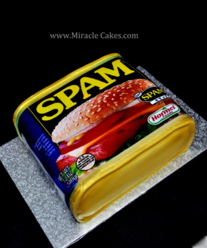 3D Spam cake.